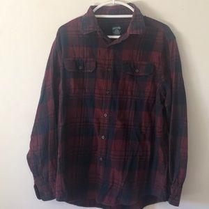 Men's red/blue flannel